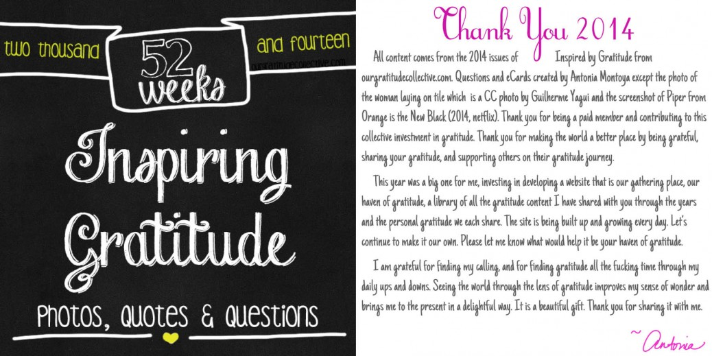 52 Weeks of Inspiring Gratitude Photos, Quotes and Questions