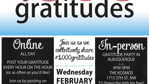 February 11, 2015 – 1000gratitudes – Press Release